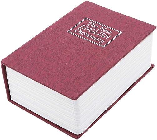 HEMFV Hucha Libro Forma Moneda Banco con Cerradura Caja Fuerte, decoración del hogar (Color : Red): Amazon.es: Hogar