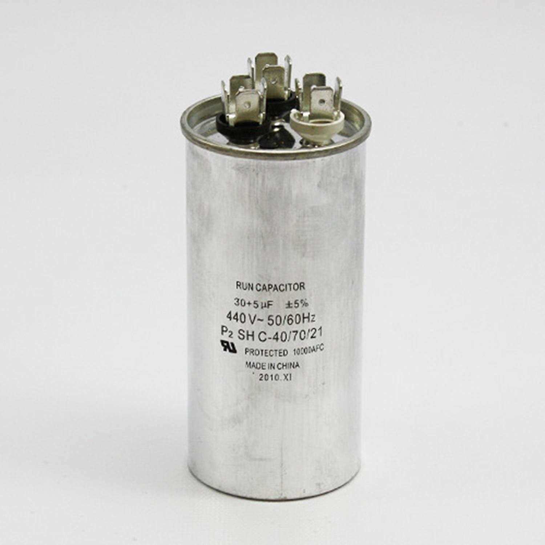 "SUPCO CD55+5X440R Dual Motor Run Capacitor 55 2.1875/"" 5 Mfd x 440V Round"
