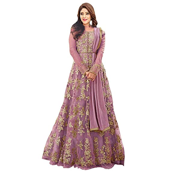 e7baf864aad Generic Women s Net Salwar Suit Material (x4 Pink Free Size)  Amazon.in   Clothing   Accessories