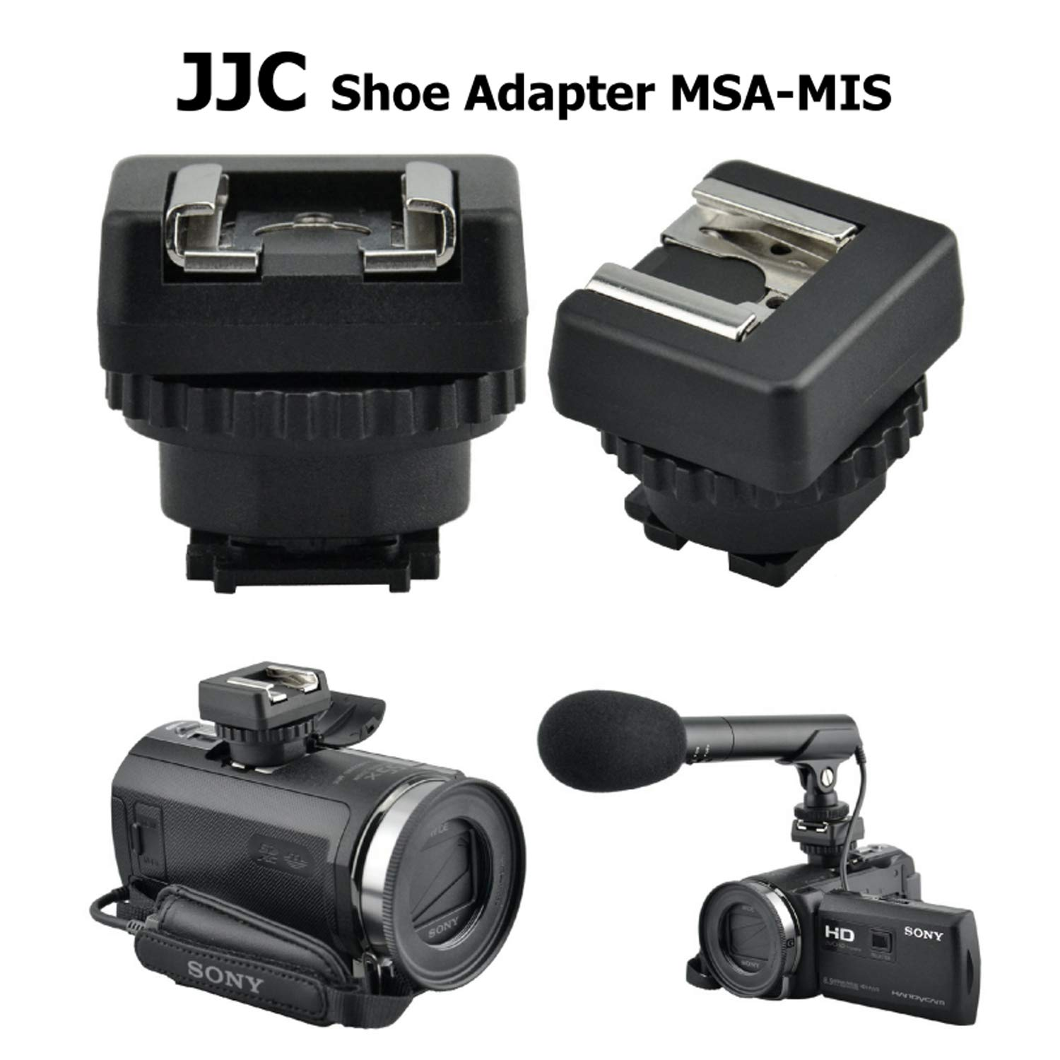 a2ccb7ac3946 JJC MSA-MIS Sony Multi-Interface Shoe (MIS) to Universal Cold Shoe Adapter