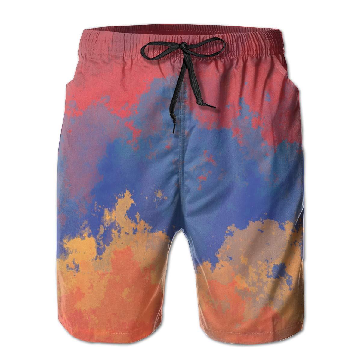 EYFlife Armenian Flag Men/¡/¯s Beach Board Shorts Quick Dry Swim Truck Shorts