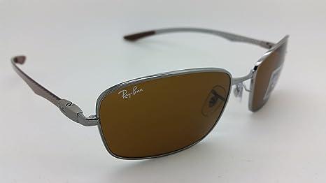 6f49b867d5e Amazon.com  Ray Ban Tech RB 8308 Gunmetal Carbon Fiber Frame Brown Lens  Sunglasses  Clothing