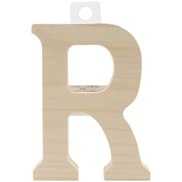 5 by 0.63-Inch E Walnut Hollow Wood Letter