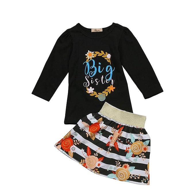 7b2ec3e610902 Amazon.com: New Kids Girls Matching Clothes Floral Baby Girl Big ...
