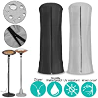 Essort Garden Heater Cover, 96×220cm Factory Direct All-season Use Courtyard Patio Waterproof Drawstring Terrace Heating Round Reversible Cover with Zip Closure