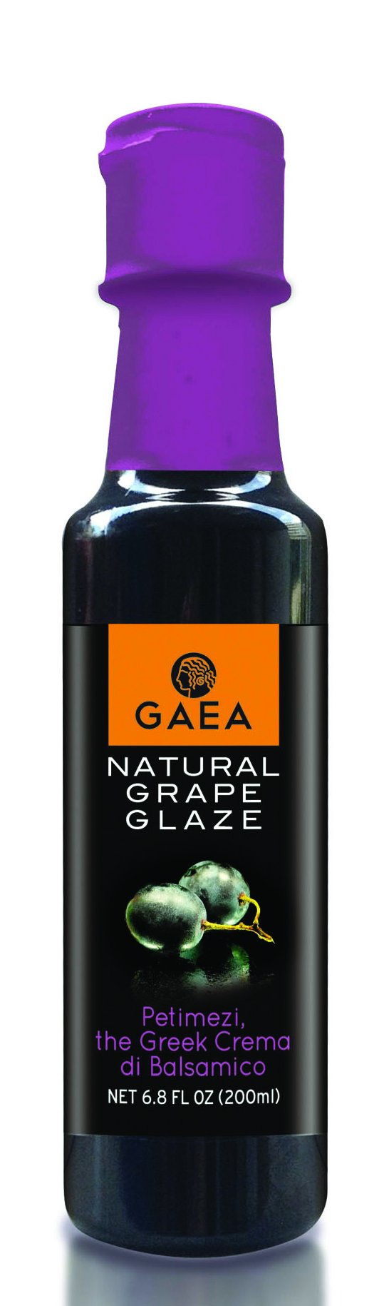 Gaea Natural Grape Glaze Crema Di Balsamico Grape Reduction (6.8 oz Bottle)