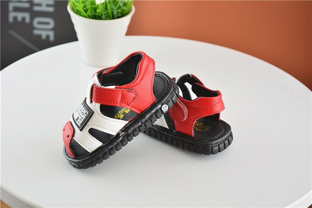 Robasiom Baby Squeaky Shoes Squeaky Sandals Anti-Slip First Walkers for Toddler Boys Girls,Red by Robasoim (Image #5)