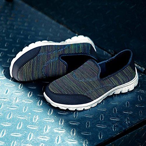 Mesh Madaleno Sportschuhe Atmungsaktiv Blau Sneaker Laufschuhe Damen Atmungsaktiv Leichte Turnschuhe UAfqvU