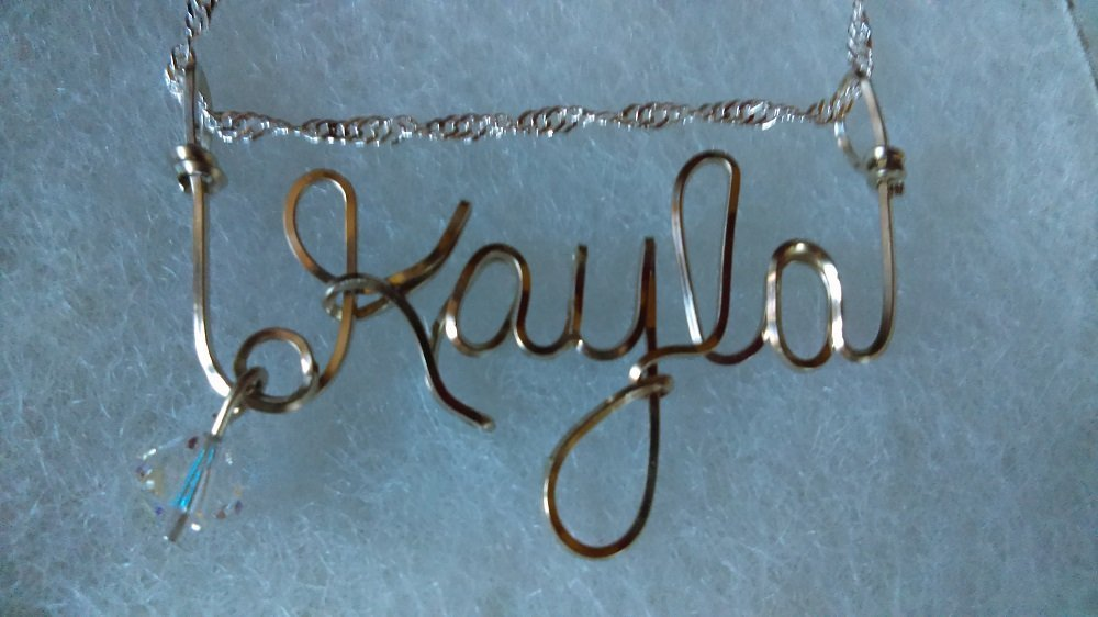 Amazon.com: CASSIE Wire Name necklace, Personalized name, or ANY ...