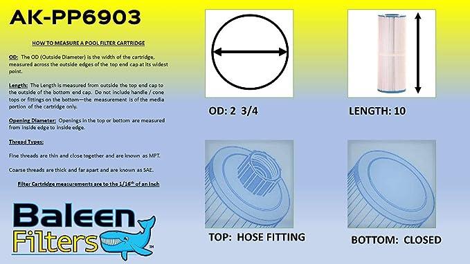 NEW Baleen Hot Tub Spa Filter AK PP6903 w// HD Fibersteel Reinforcement Sealed