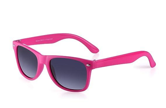 miuno® Gafas de sol infantiles polarizado dual-polarized Wayfare funda para niños