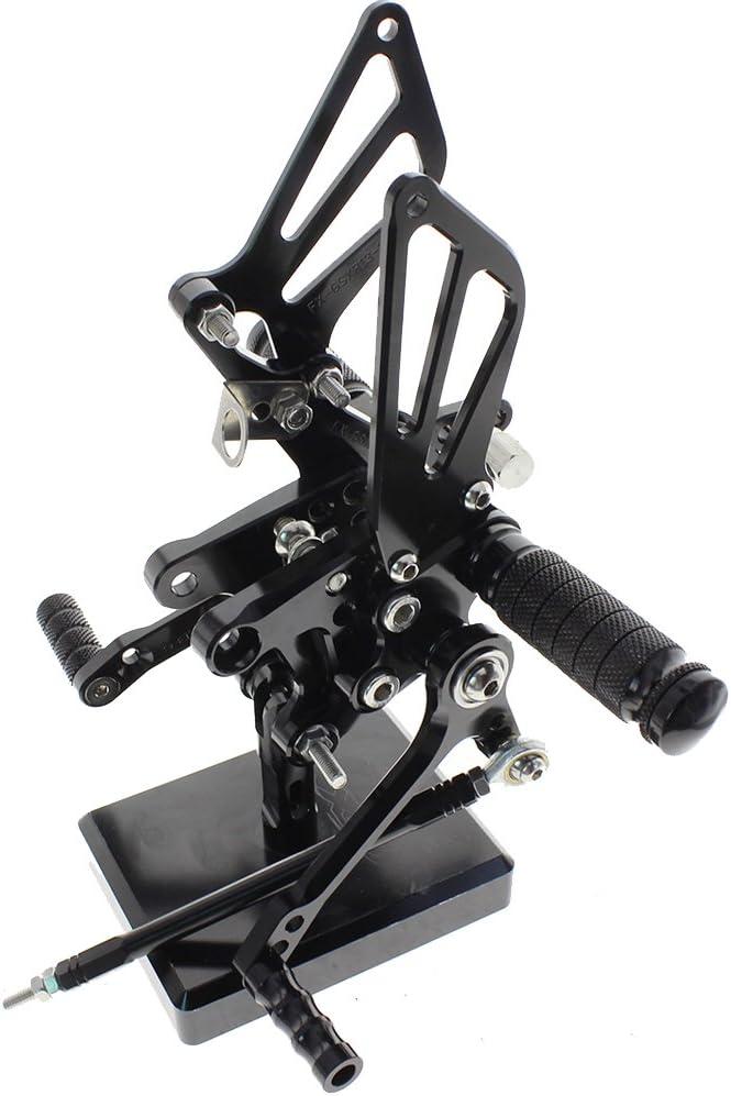 S 00 01 02 03 04 05 Black Krace Motorcycle Rearsets Footpegs For Suzuki GSXR 600 750 GSX R 1000 SV 650