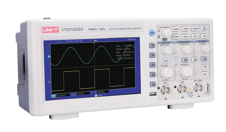 UNI-T 7730071 Digital Storage Oscilloscope, White/Grey