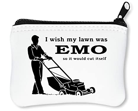 I Wish My Lawn Was EMO So It Cut Itself Billetera con Cremallera Monedero Caratera
