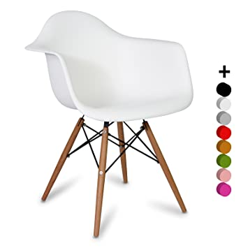 Chaise DAW Style - Blanc - Inspiration Charles&Ray Eames - 63 cm x ...