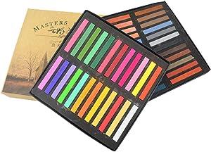 Dibiao Pastels Pastel Chalk Square Chalk Pastel Chalk Stick 12 Assorted Colors Set