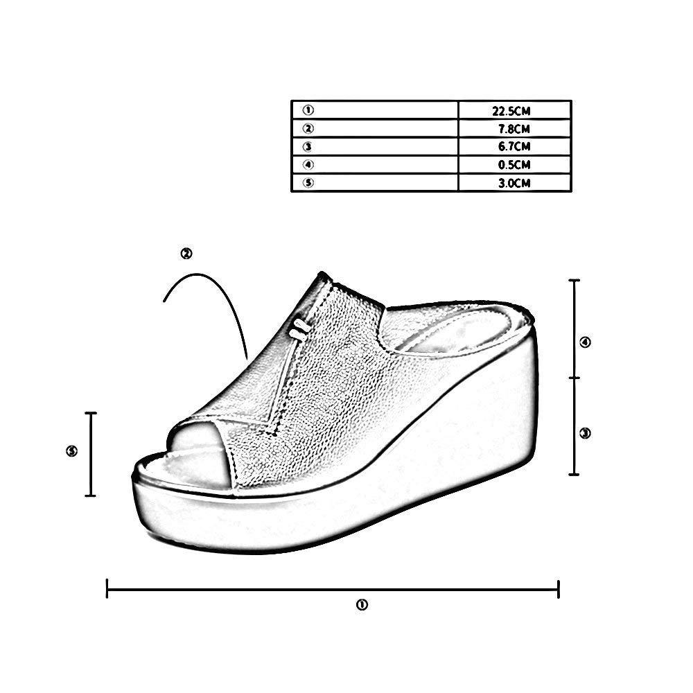 Oudan Oudan Oudan Sandali Pantofole Abbigliamento Estivo da Donna Fashion Network Infrarossi dalle Spesse pareti del Vento di Hong Kong con Pantofole fresche (colore   Bianca, Dimensione   -) 1b40e8