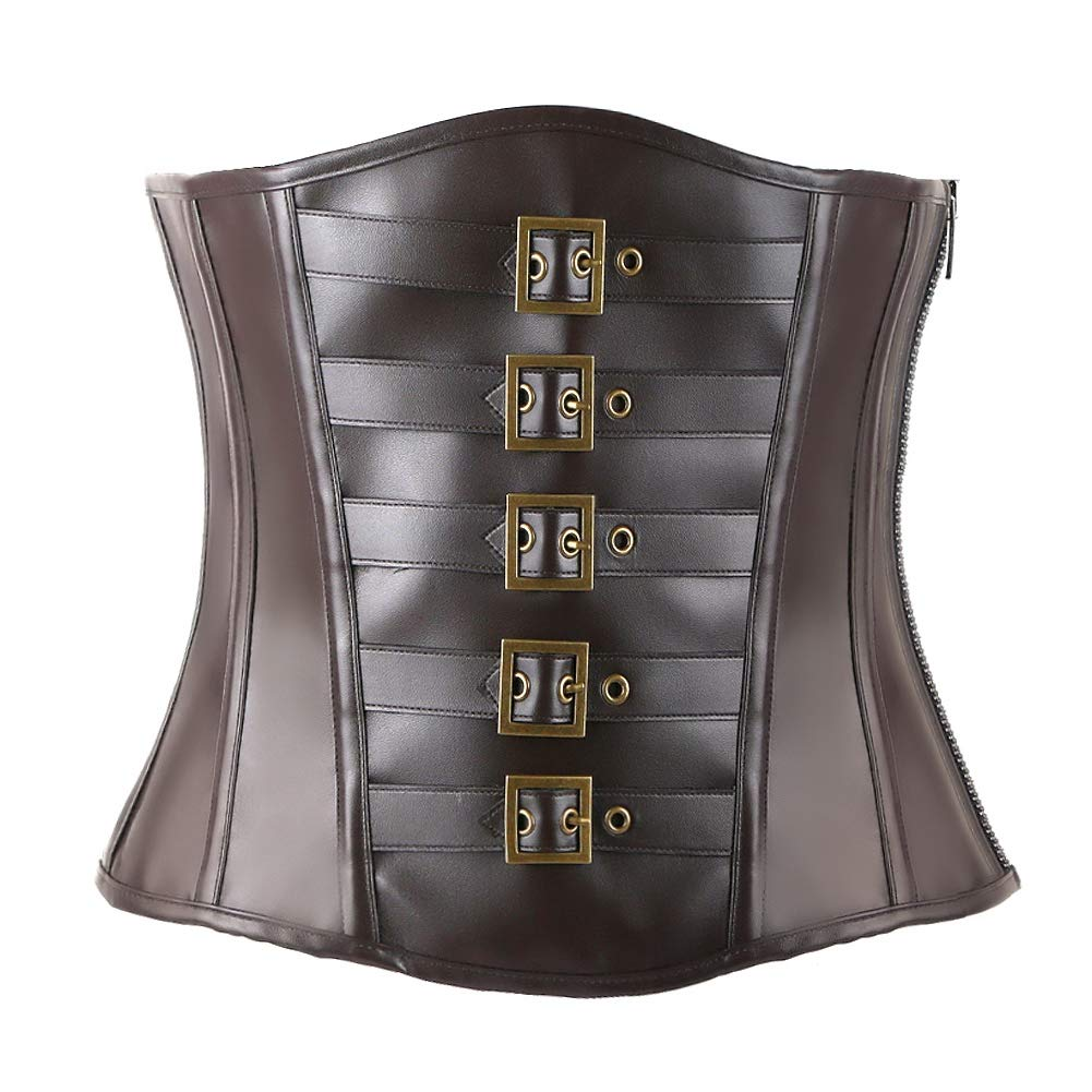 Ancocs Corsets for Women Bustier Top Like Underbust Waist Trainer Leather Design for Use Fashion Vintage Cincher