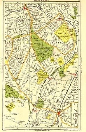 London East Map.London East Dulwich Forest Hill Nunhead Peckham Rye Honor Oak