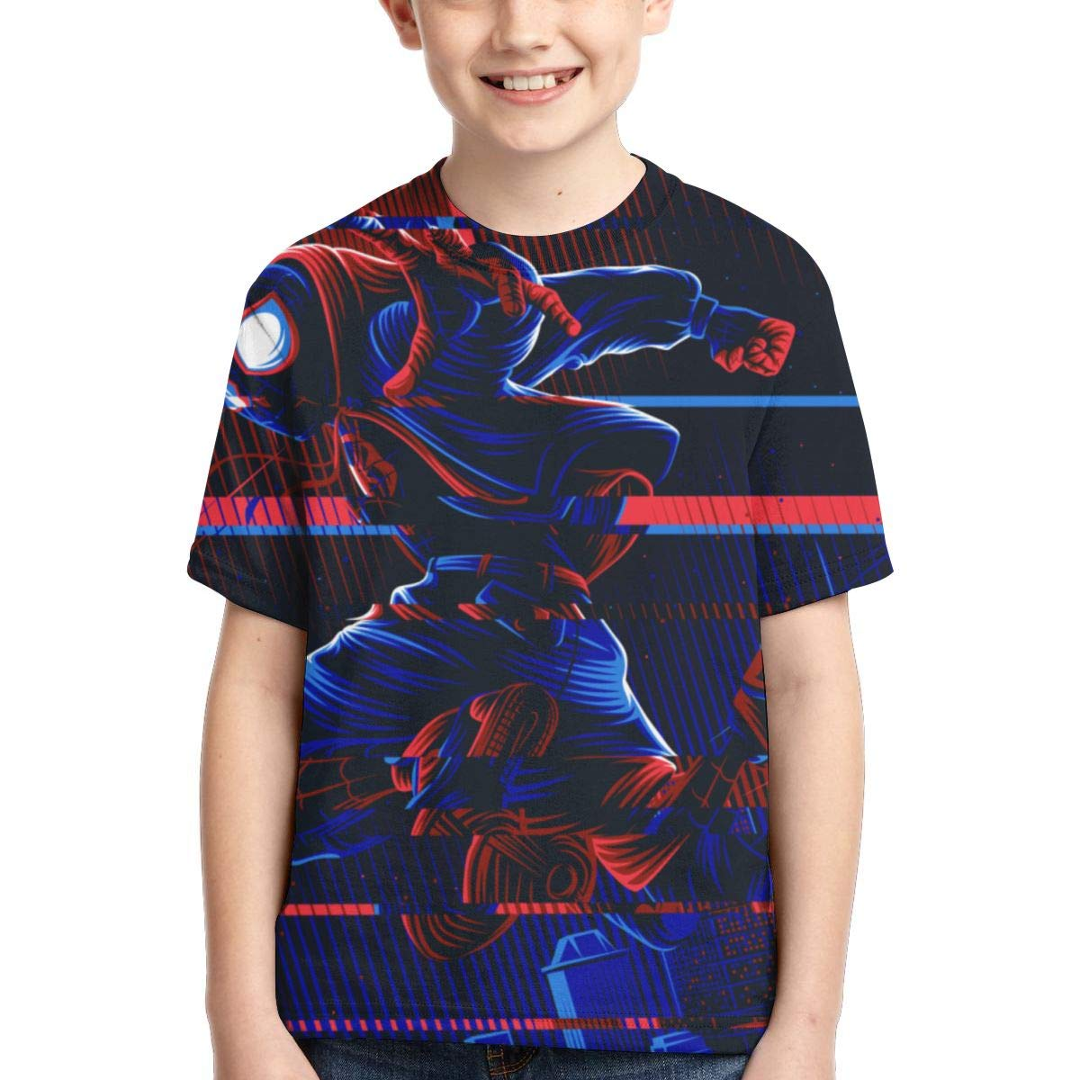 FrancSan Spiderman Into The Verse Boys Short Sleeve T-Shirt Kids Graphic Tops Tee Summer Shirts