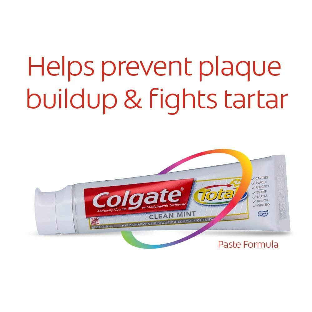 Colgate Total Fluoride Toothpaste, Clean Mint, Travel Size, TSA Approved 1.9oz (Packs of 6) by Colgate (Image #5)