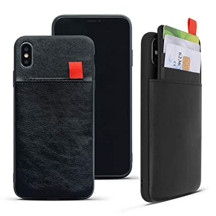 Amazon.com: REDTREE - Funda de piel tipo cartera para iPhone ...