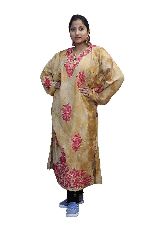 Kashmirvilla Tye And Dye Phiran With Kashida Aari Embroidery Looks Ravishing On The Wearer