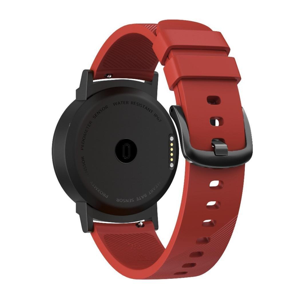 Due Taglie Small e Large YUYOUG/_watch strap Yuyoug Elegante Cinturino di Ricambio in Silicone Morbido Wristband per Ticwatch e