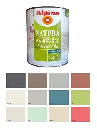 Alpina 2,5 L Natura Wandfarbe Silikat Mineralfarbe Muschel, Creme ...