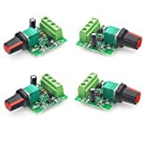 tatoko 4Pcs 1.8v 3v 5v 6v 12v 2A 30W Low Voltage DC Motor Speed Controller PWM 1803BK Adjustable Driver Switch