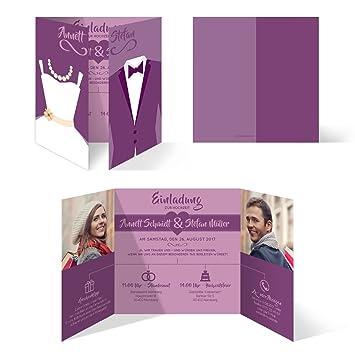 Hochzeitseinladungen 50 Stuck Braut Und Brautigam Altarfalz
