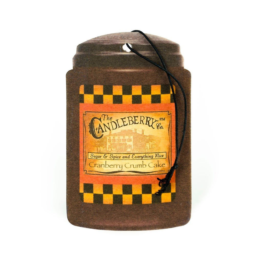 Candleberry Candle Co. Scented Car Air Freshener - Cranberry Crumb Cake
