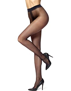 95ce8df6995 HUE Women s So Silky Sheer to Waist Pantyhose with Invisible Reinforced Toe
