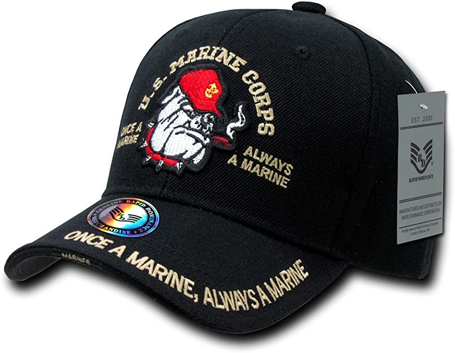 Amazon.com  U.S. MARINES CORP BULLDOG HAT CAP SHADOW DESIGN U.S. ... 2e18b57183b