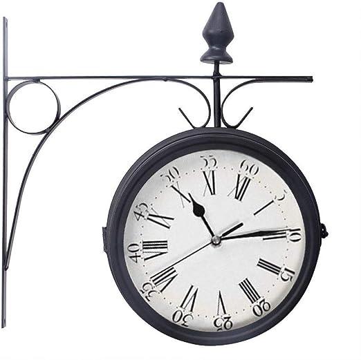 Huixi Jardín al Aire Libre Kensington London Reloj de Pared Soporte Exterior 20 cm de Doble Cara: Amazon.es: Hogar