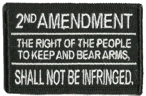 2nd Amendment Tactical Patch - Black