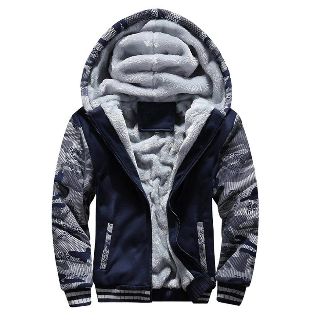 Sharemen Thick Jacket Men's Hooded Outdoor Warm Winter Coats