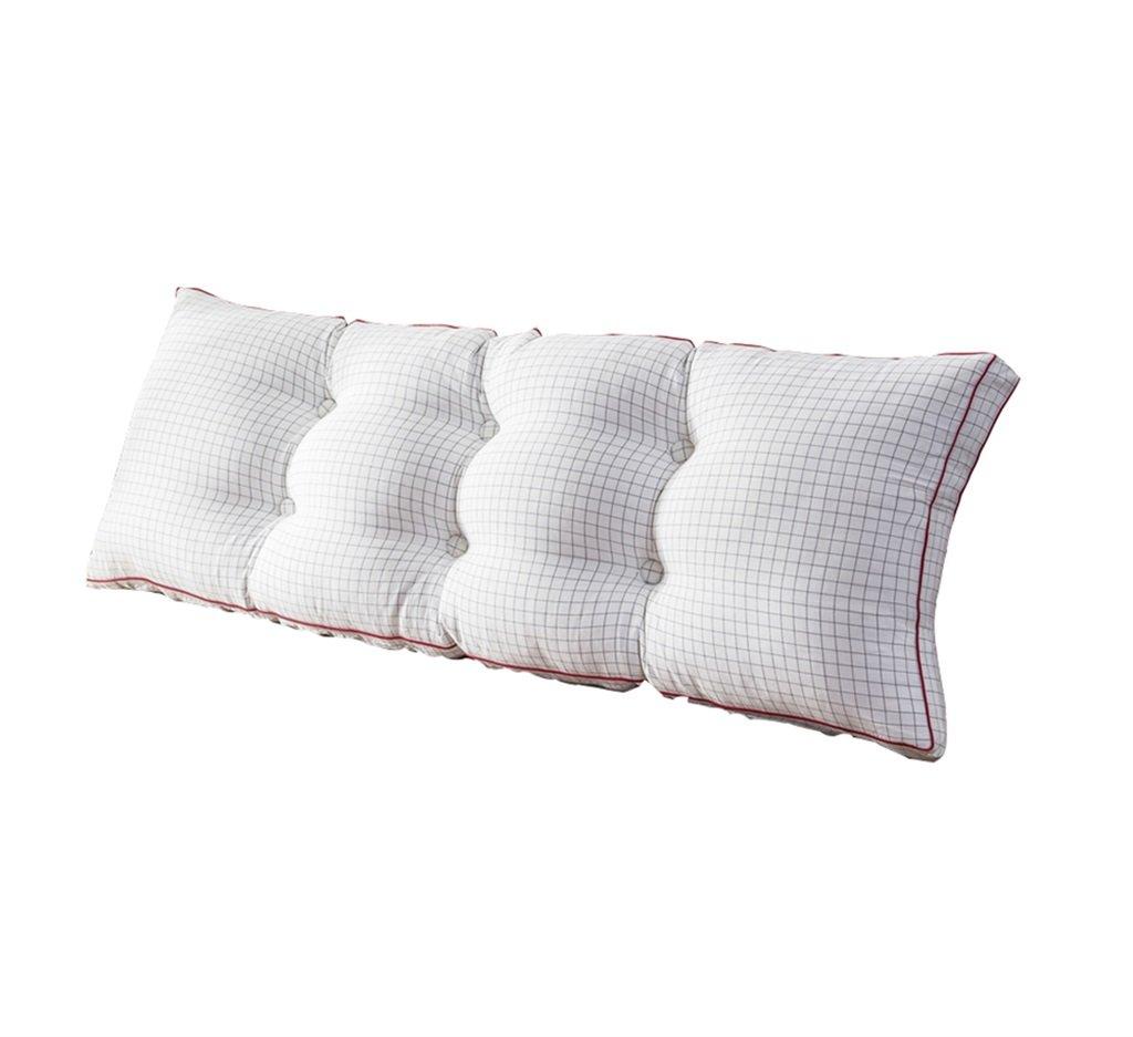 ファッションベッドサイド厚いクッション三角枕とソファソフトバッグ長い背もたれ取り外し可能で洗濯可能なダブルプロテクションウエストクッション枕を読む (色 : 白, サイズ さいず : 150 * 50 * 20cm) B07DK6GK2X 150*50*20cm|白 白 150*50*20cm
