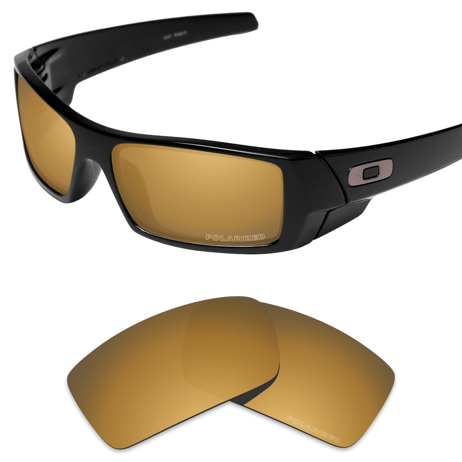 Tintart Performance Replacement Lenses for Oakley Gascan Sunglass Polarized Etched-Tungsten Gold