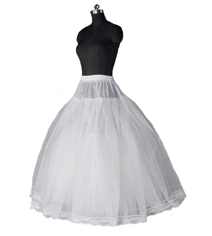 AliceHouse Womens Floor Length Wedding Dress Underskirt Petticoats Slips PC14