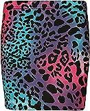 WearAll Women's Print Mini Skirt - Turquoise / Cerise Animal - 8-10