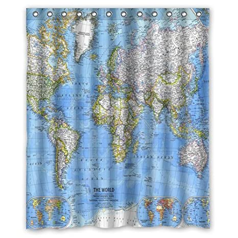 Bathroom Accessories Yumian The World Map Bathroom Decor ...