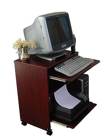 Amazon.com: Estrecho Computer Laptop Desk w/estante de ...