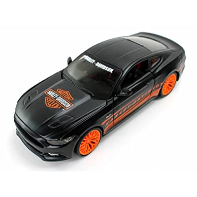 Maisto Ford Mustang GT, Orange/Black HD Custom 32188BK - 1/24 Scale diecast Model car: Toys & Games