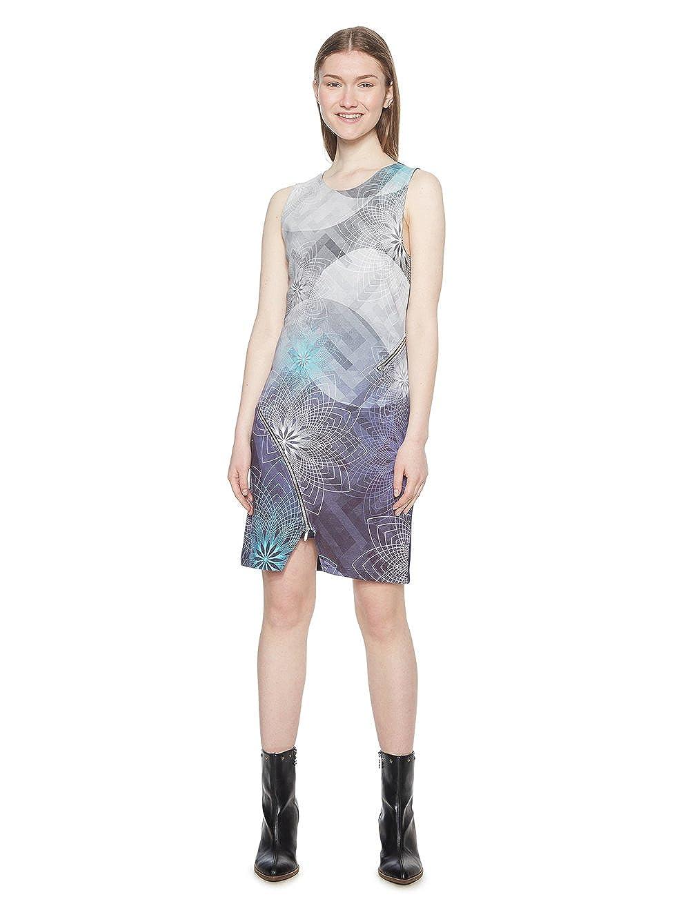 TALLA S. Desigual Vest_Ohio Vestido para Mujer (Navy 5000) S