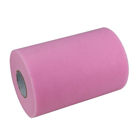 Paor 100 Yardas 15cm de ancho Tela de cinta de tul para la decoración de la fiesta Wraping Craft Bow Girl Tutu Color Verde oscuro/rosa / púrpura ...