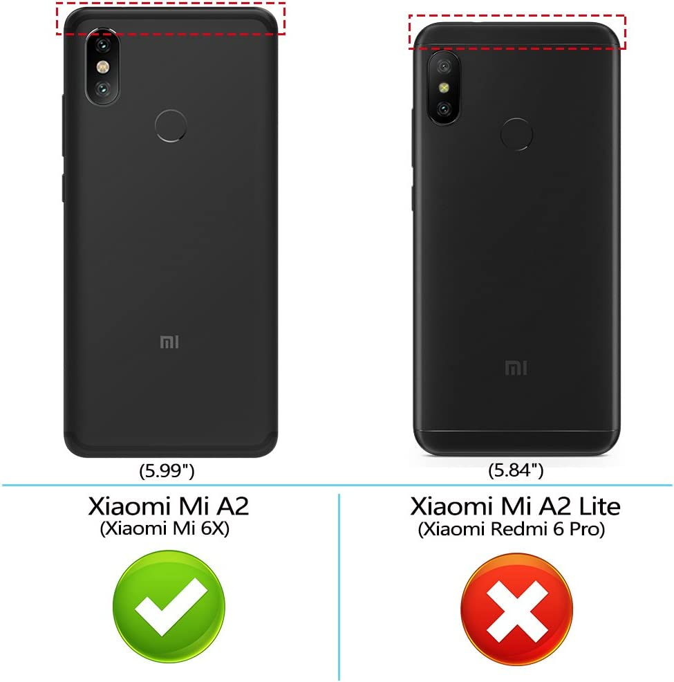 Peakally Funda Xiaomi Mi A2 / 6X, Premium Cuero Fundas para Xiaomi ...