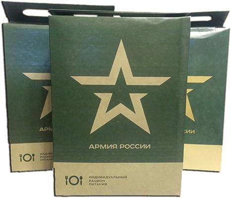 Militar rusa Ejército de Alimentos ración diaria Paquete Mre Emergencia Raciones 2017-2018