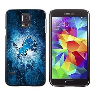León - Metal de aluminio y de plástico duro Caja del teléfono - Negro - Samsung Galaxy S5
