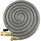 100 Foot Expanding Garden Water Hose by Titan Premium Leak-resistant Solid Brass Connectors Super Strong and Durable Double Layer Latex Core Design Expandable Flexible and Lightweight For Home Use